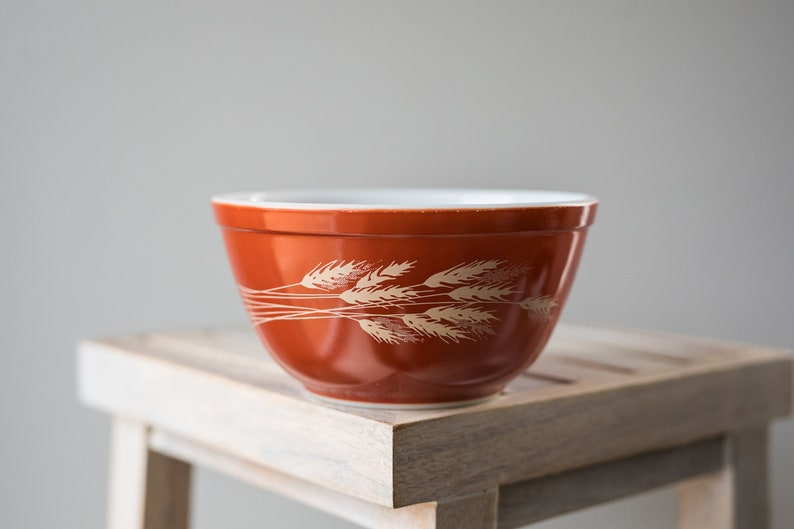 Vintage Pyrex 402 Autumn Harvest Orange Nesting Mixing Bowl image 0
