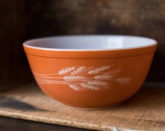 Vintage Pyrex 403 Autumn Harvest Orange (Alternating Theme) Nesting Mixing Bowl