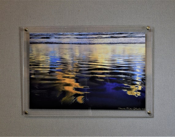 Acrylic Float Frame 21x27 To Fit Art 18x24 Floating Acrylic Etsy