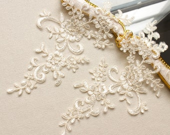 Lace applique etsy