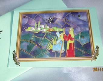 """Christmas card """"the shepherds and the Star"""""""