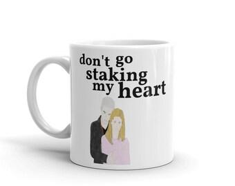 Buffy + Spike (Don't Go Staking My Heart) - Ceramic Mug