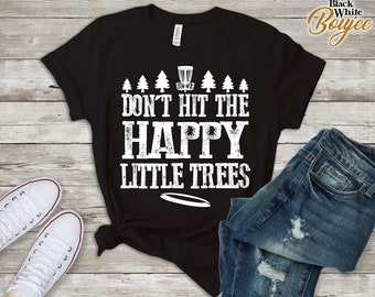 37e5d8c87 Disc Golf Shirt/ Disc Golf Family Premium Shirt For Teen Funny Distressed  Tee/ happy Little Tree/ Trendy Disc golf Shirt 2018