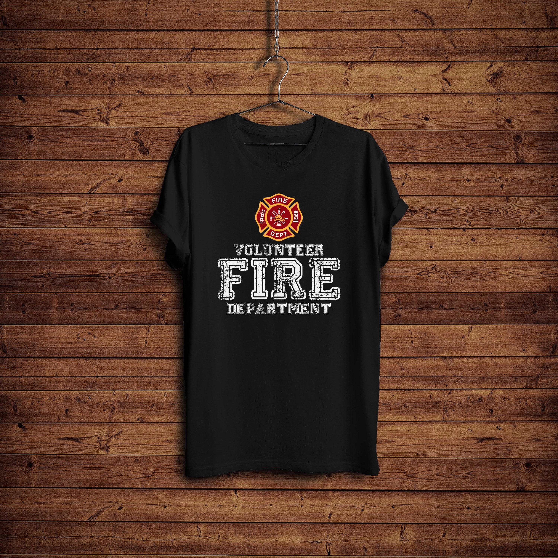 Volunteer Shirt Fire Department Volunteer T Shirt Trendy Etsy