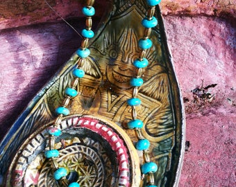 Turquoise and brass
