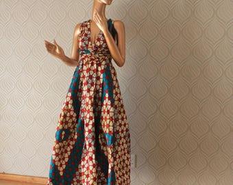 Ankara infinity dress, Ankara dress, Infinity dress, African infinity dress, infinity dress, maxi dress, red infinity dress