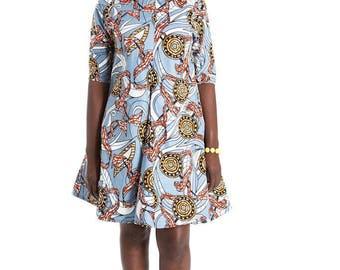 African clothing, African dress, Ankara dress African wax print, Ankara fabric, African fabric