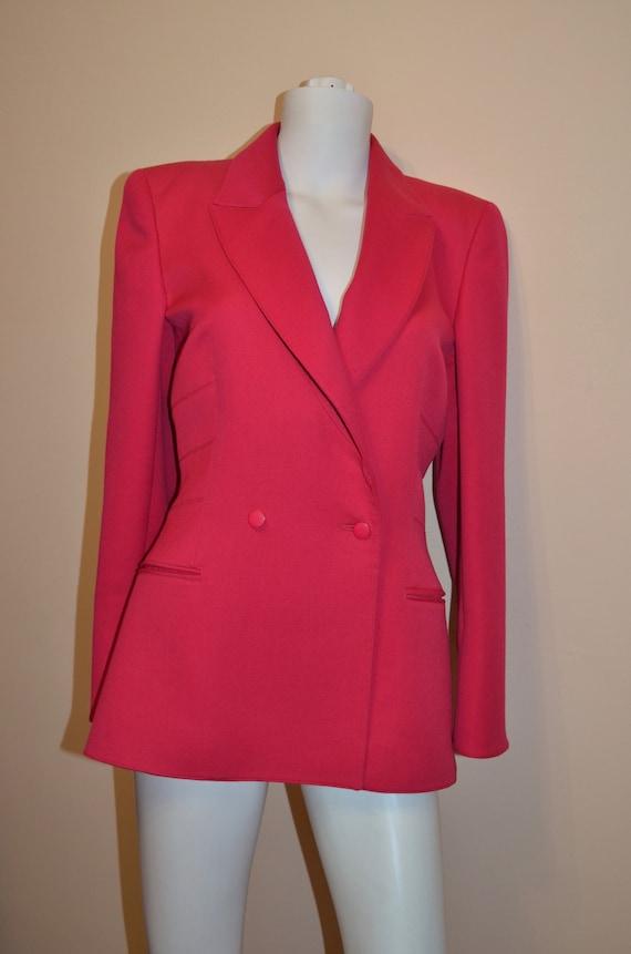 Claude Montana hot pink blazer