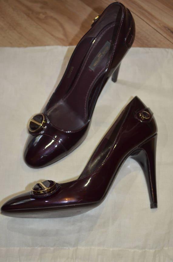 Louis Vuitton lacquer heels designer shoes