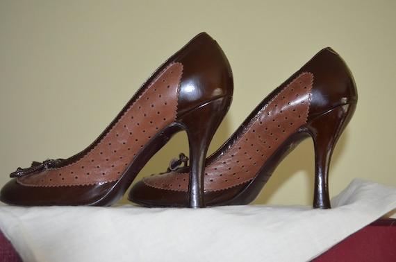 Marc Jacobs leather heels shoes designer