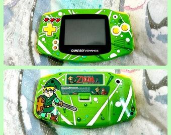 Custom Painted Legend of Zelda Gameboy Advance