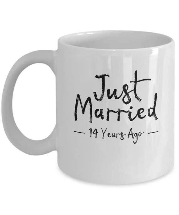 14 Years Of Marriage Gift 14th Wedding Anniversary Coffee Mug Cute