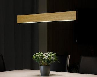 DIMMABLE Modern LED Pendant Light - Wooden Lamp