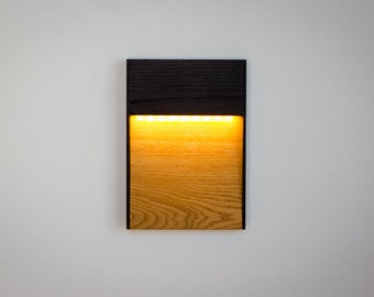 LED Wall Sconce AmberLight 200-240VAC - Natural Oak Wall Light