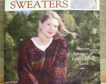 bb25f01771bd Leisure Arts The Big Book Of 16 Quick Knit Sweaters Cardigans Vest Pullovers