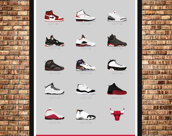 Air Jordans Chicago Bulls collection poster 9a5deb94b