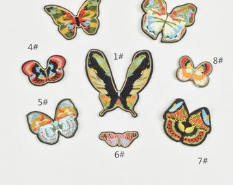 51f8557223d3b0 2pcs Gucci butterfly embroidery patch