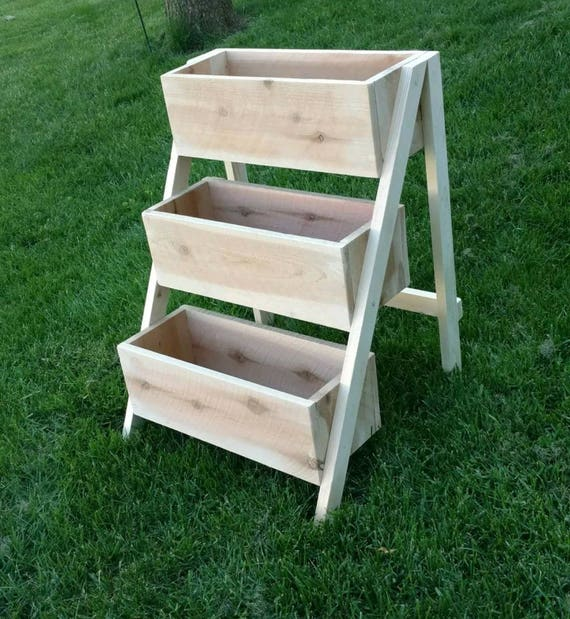 Tiered Cedar Planter Etsy