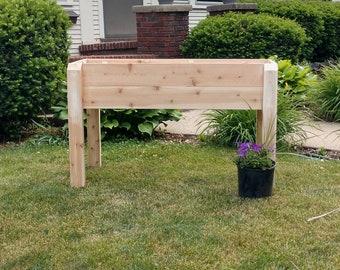 Raised Cedar Garden Planter
