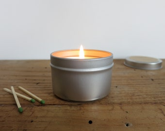 APPLE 3.5 oz Soy Candle in Metal Travel Tin