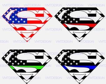Superman flag american svg - Superman flag american digital clipart for Design or more, file download svg, png, eps, jpg