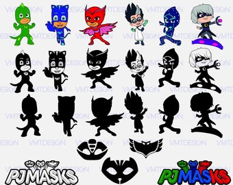 PJ mask svg - PJmask silhouette - PJ mask clipart - PJ mask digital cliaprt for Design or more files download svg, png, eps, jpg
