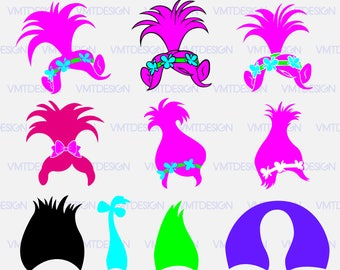 Troll Hair Svg - Troll Hair vector - Troll Hair digital clipart files for Design or more, files download svg, eps, jpg, png