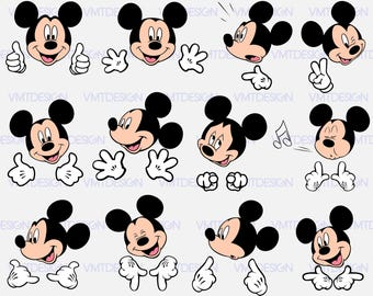 Mickey head svg - Mickey head vector - Mickey head clipart - Mickey digital clipart for Design or more, files download eps, svg, png, jpg