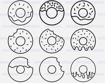 Donut Svg - Donut vector - Donut clipart - Donut digital  clipart files gor Design or more download svg, eps, jpg, png