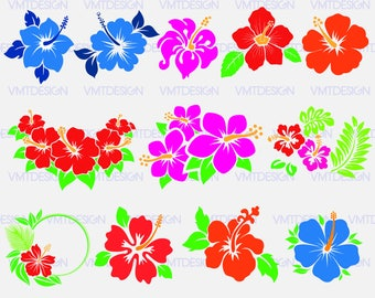 Hibiscus svg - Hawaii Flower  svg - Hawaii Hibiscus Flower digital clipart files for Design or more, files download svg, png, eps, jpg