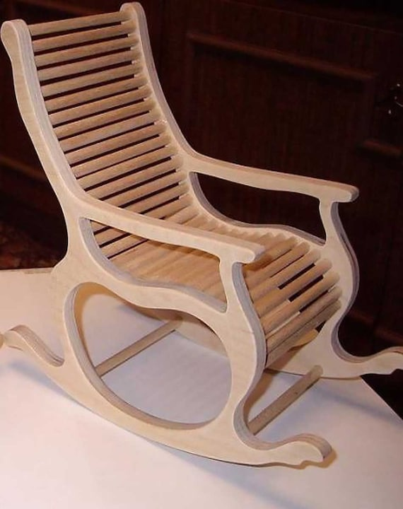 Rocking Chair Vector Plan Rocking Chair For Cnc Woodwork Diy Cdr Digital Download Rocking Chair