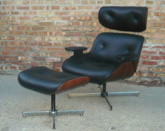 Super Built2Order Luno Buckley Leather Rosewood Lounge Chair Frankydiablos Diy Chair Ideas Frankydiabloscom