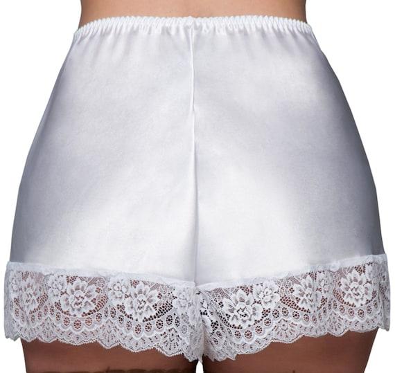 3ee49689eecf0 Culotte camisole française de luxe en satin avec dentelle suisse (PLcami)