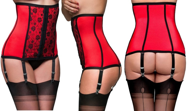 c5237adf77b Premier Lingerie Vintage Style Red   Black Shapewear Waist