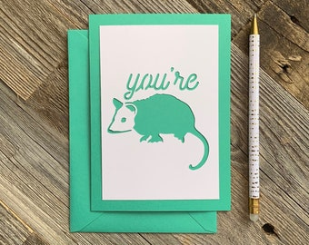 Possum Card Etsy