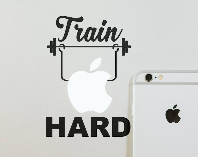Train Hard Decal Sticker, Goals, No free lunch, Inspiring and motivational stickers, Macbook Decal Sticker