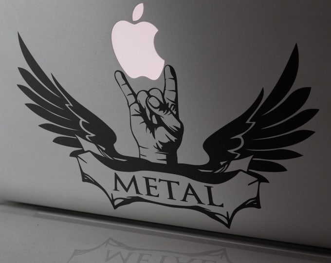 Macbook Decal - Metal Lover - Sticker for Apple Macbooks or other Laptops, mac, Heavy metal, Rock Hard, Rock on, Hardcore Metal, Metal Music