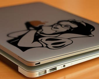Hipster Princess - Apple Decal Sticker for Apple Macbook or other Laptops, Vinyl, Decal, Macbook, Macbook Decal, Laptop