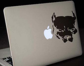 Pit Bull Sticker, Pit Bull Terrier Pet Dog Laptop Stickers PitBull, Macbook Pet Decal, mac, Macbook Decal Sticker