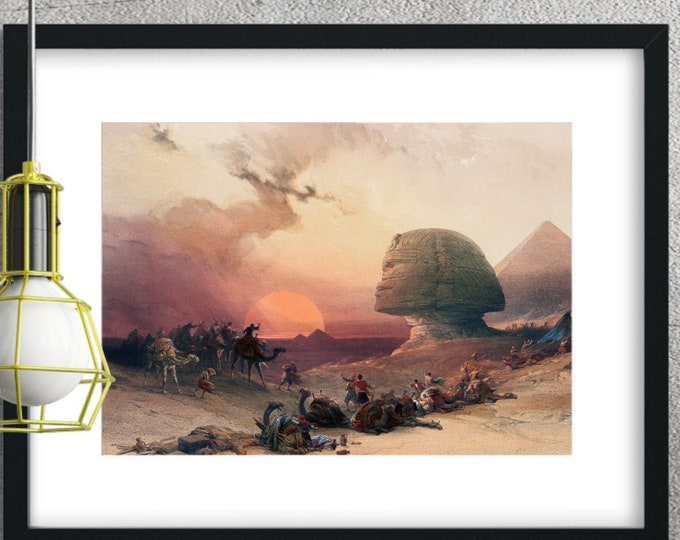 Approach of the Simoom - Desert of Gizeh - 1846 ~ 1849 - Digitally enhanced from original drawings - Digital Quality Print