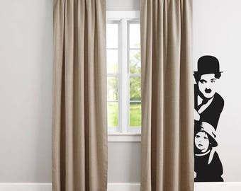 Charles Chaplin, Wall Decals, Vinyl Decal for walls or windows, Sticker, Decals, Chaplin, Home improvement