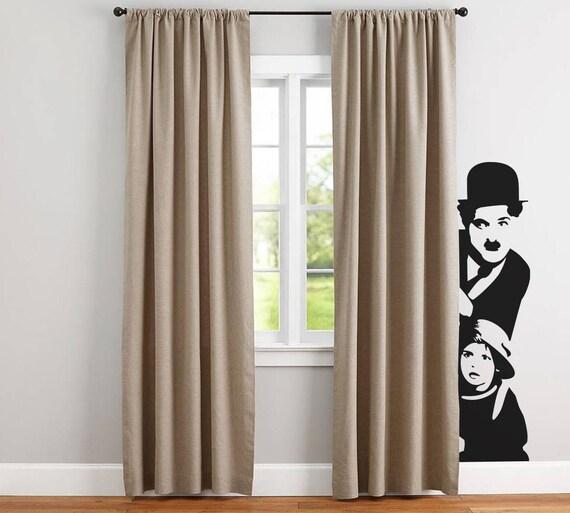 Charles Chaplin, Wall Decals, Vinyl Decal for walls or windows, Sticker, Decals, Chaplin, Home improvement