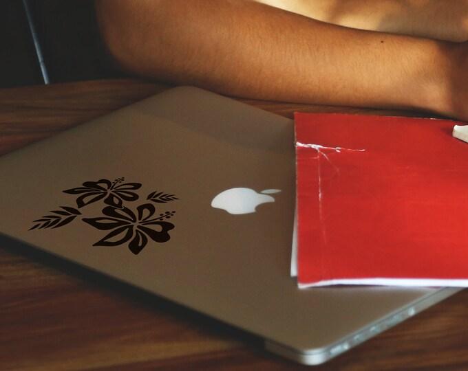 Surf Flower laptop decal Sticker, mac, Macbook, Decals, pro, air, retina, Stickers, Hibiscus, Hawaii, Gorgeous, Beautiful, Haiti, Surfing