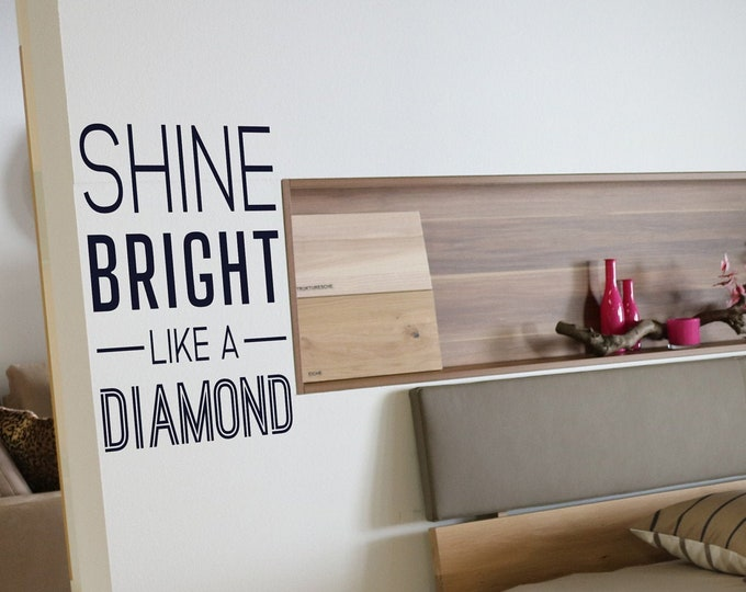 Shine Bright Like a Diamond - Motivational Vinyl Wall Decal for Office and Home Improvement
