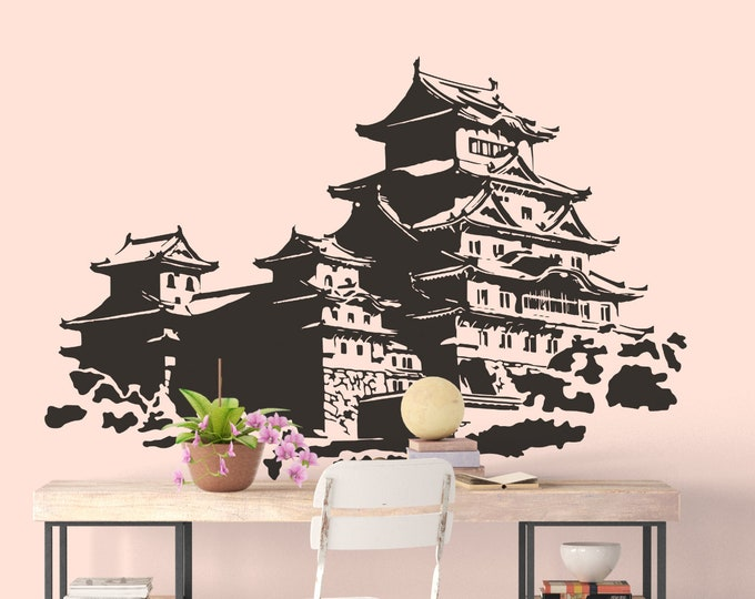 Old Chinese Temple Wall Decal, Shen Temples, Taoist, Taoism, Fashi, Joss House, Joss Sticks, God House, Shrine, Dragon King, Tudigong, Mazu