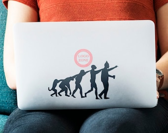 2 units of Man Evolution to Party Animal Decal Sticker, Partying Partygoer Bon Viveur Clubber Good times - FREE SHIPPING