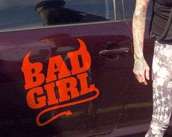 Bad Girl - Car Sticker Decal Template - Digital Item - Ready to cut, print or engrave [svg - pdf - dxf - png - jpg - ai - eps - plt - dwg]