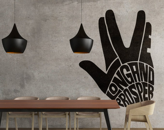 Live Long and Prosper - Typography Wall Decals, Home Decor, Interior Design, Motivational Decal, Inspiring, Good Vibes, Great Feelings