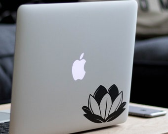 Lotus Flower Apple Decal Sticker, Apple Macbook, Laptops, Decals, Macbooks, Laptop, Flowers, Indian,Sacred, Bean of India, Egyptian bean