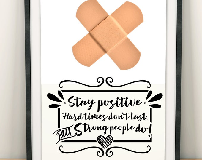 Stay positive - Ready for cut, print or engrave - Perfect for plotters, CNCs, Laser cutters - Instant Digital File Delivery - SVG